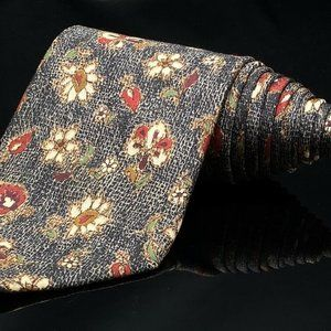 STRUCTURE Floral Flower 100% Silk Made In USA Tie